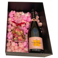 veuve clicquot rose gift basket