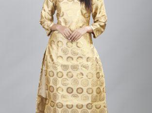 Buy Golden Kurti with Pants Set for Women Online