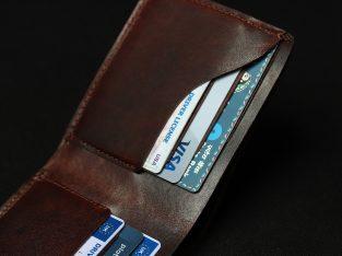 Foxhackle Slim Handmade Leather wallet, Gift for men