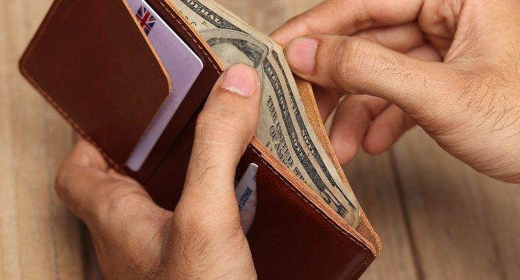 Slim Handmade Leather Wallet, Gift for men