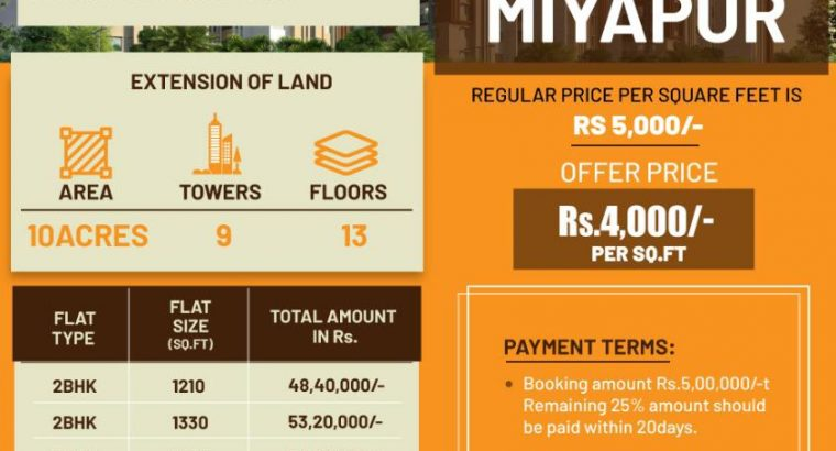 Mega Hi-Rise Apartment Project At Miyapur | Book Now!