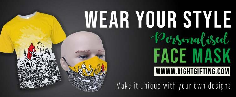 Get the best personalized face mask from RightGifting