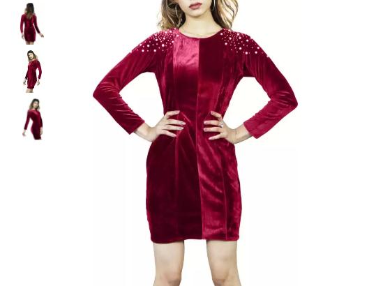 Buy Sheath Maroon Dress for Women Online At Flipkart