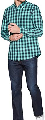 Stylish Slim-Fit Cotton Check Shirt For Men