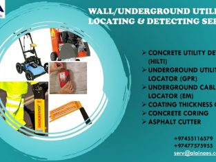 WE OFFER WALL/UNDERGROUND UTILITY LOCATING/DETECTING SERVICES