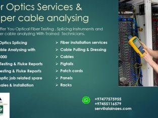 Fiber Optics Services & copper cable analyzing