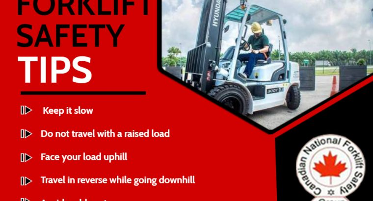 Best Forklift certification brampton