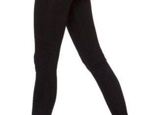 Ladies Black Cotton Leggings.