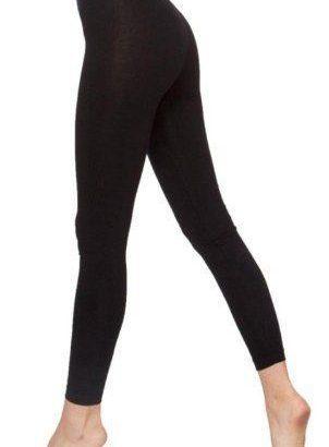 Ladies Black Cotton Leggings.