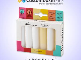 Get Flat 25% on Lip Balm Packaging at CustomBoxesplus
