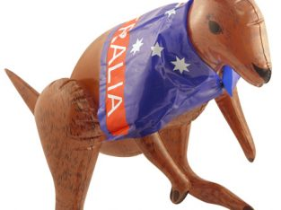 Inflatable Kangaroo With Australian Flag