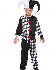 Child Jester Evil Costume.