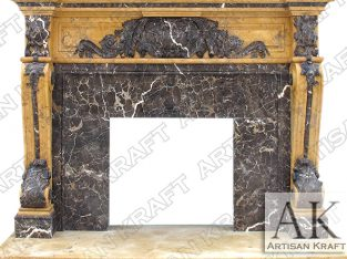 Marble Mantel | Marble Fireplace Hearth | Fireplace Mantels Surround