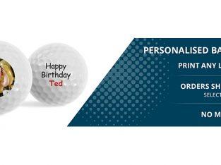 Customize Logo golf balls at exclusive discount
