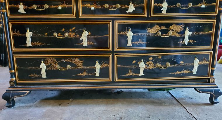 CHINESE BLACK LACQUER FURNITURE