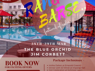 Jim Corbett Holi Packages | The Blue Orchid Hotel & Resort Jim Corbett