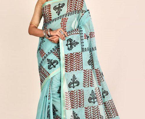 Simply Beautiful Hand Block Print Sarees