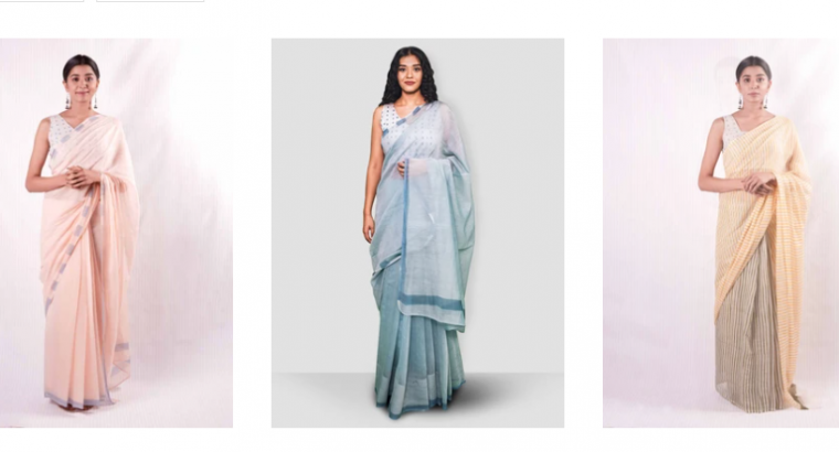 Buy Chanderi Saree for Women Online at Thevasa