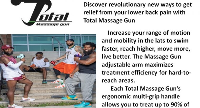 Total Massage Gun For Lower Back Pain With Different Features