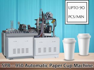 Low-Cost Paper Cup Machine in India – SPB MACHINERY