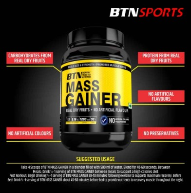 Muscle mass gainer protein powder India