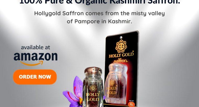 Buy Premium Kashmir Saffron from Holly Gold