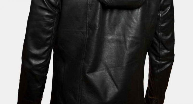 Angers Hooded Leather Jacket