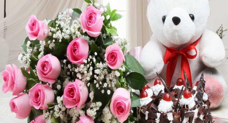 Birthday gifts combo| Cake | Flowers | Chocolate