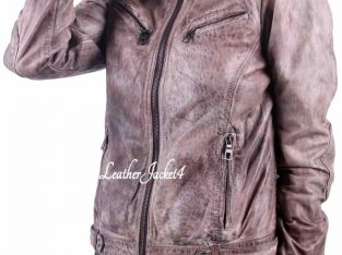 Basic Beige Biker Jacket For Women