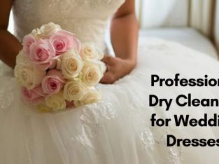 Dry cleaning service for wedding dress
