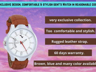 Exclusive Design, Comfortable & Stylish Gent's Watch.