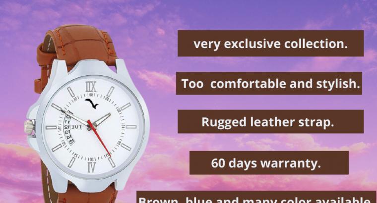 Exclusive Design, Comfortable & Stylish Gent's Watch.