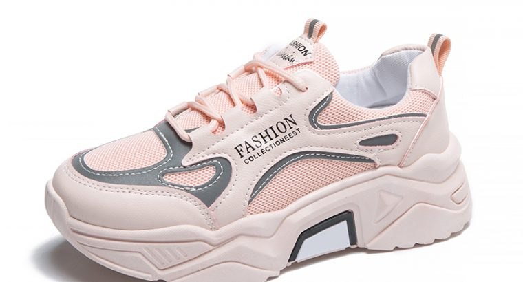 Sports shoes women 2021 spring and autumn new of reflective Harajuku wild old shoes