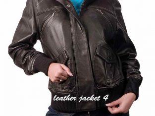 Lira Bomber Leather Jacket For Womens