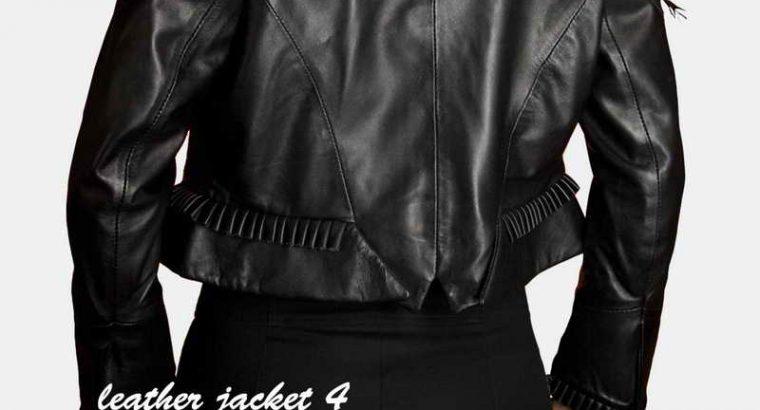 Women Short Leather Jacket