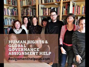Online Human Rights & Global Governance Assignment Help – AssignmentHelpAUS