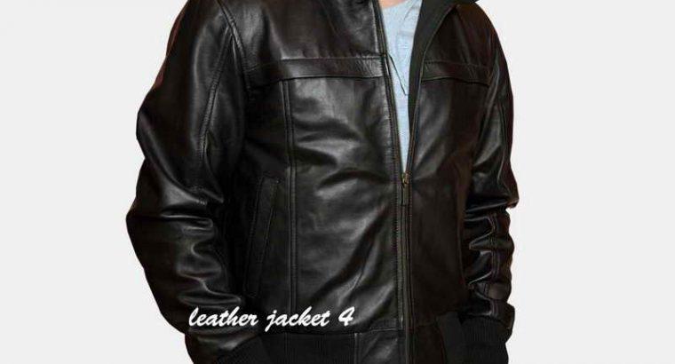 Antibes Hooded Leather Jacket