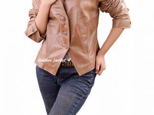 Nicole Leather Women Blazer