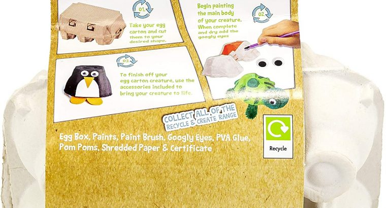 ARTS & CRAFTS ~ EGG BOX PETS
