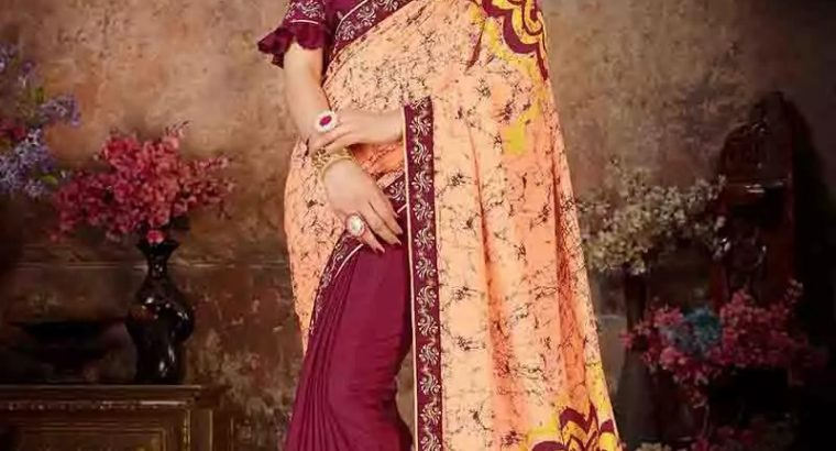 half and half saree for women