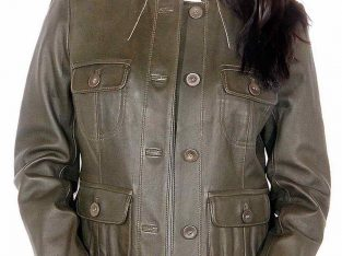 Sew Button Leather Jacket