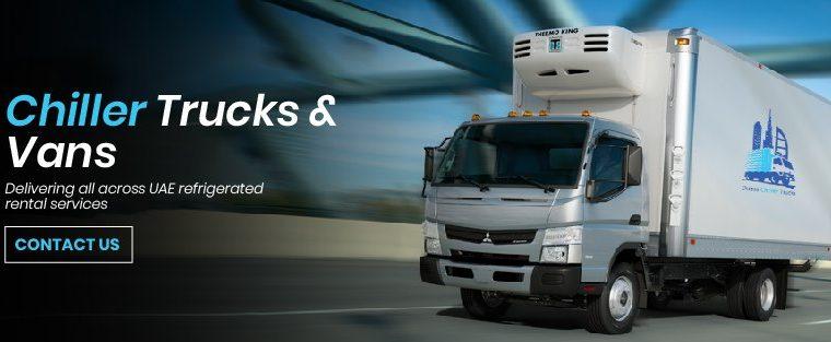 Dubai Chiller Trucks   Chiller Van for rent in Dubai
