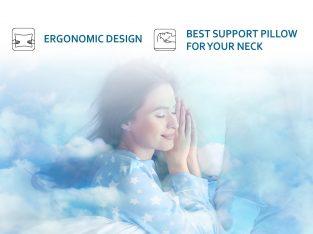 Orthopedic Memory Foam Pillow by Sleepsia | Sound sleep