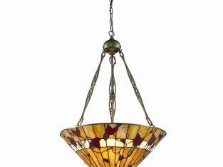 Serena d'italia Tiffany Style 2-Light Bronze Spring Blossom Hanging Lamp