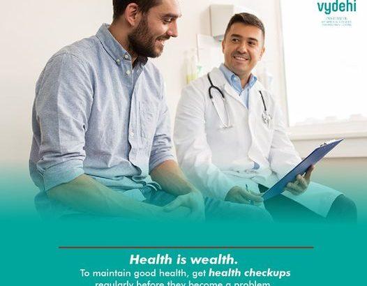 Best MASTER HEALTH CHECK UP at Vydehi Hospital COST : 1600