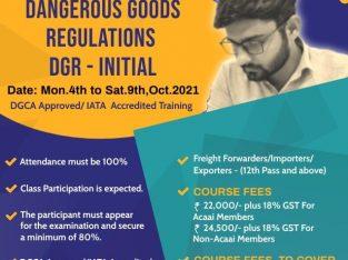 Dangerous Goods Regulations (DGR – Initial) | JBS Academy