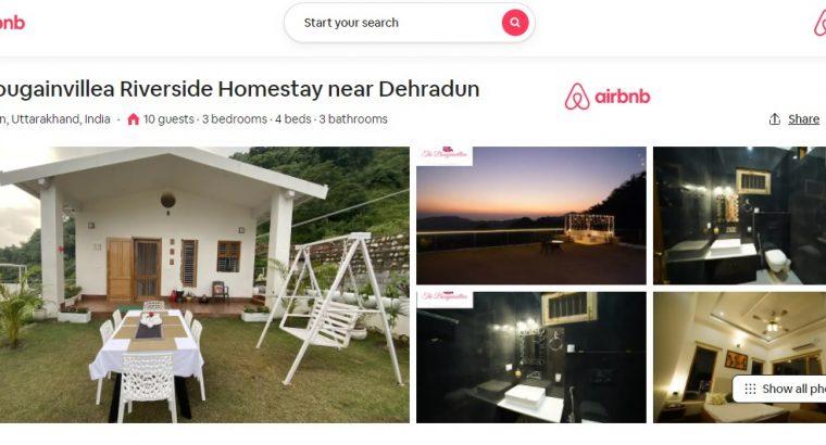 Book The Bougainvillea via Airbnb – Riverside Family Homestay in Dehradun
