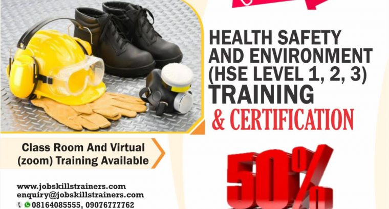 HEALTH, SAFETY & ENVIRONMENT TRAINING (LEVEL 1,2,3
