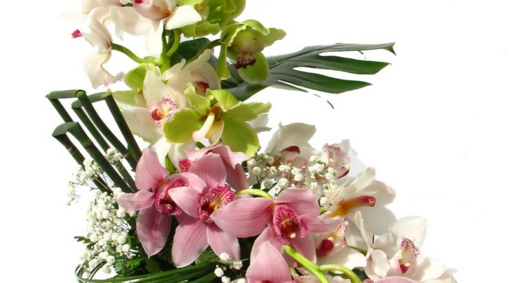 Mixed Orchid Flower Arrangement