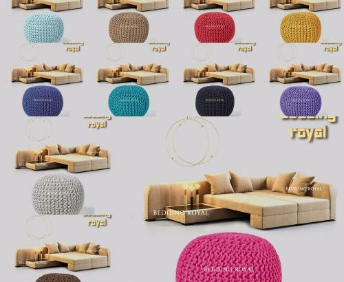 Get 10% flat discount on Knitted Pouffe & Footstool Round Large Moroccan Knitted.